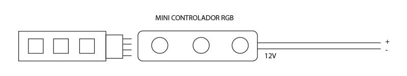 como conectar mini control tira led 5050 rgb