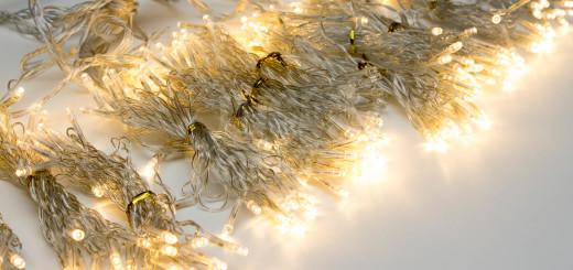 cortina navidad luz led de metros blanco clido