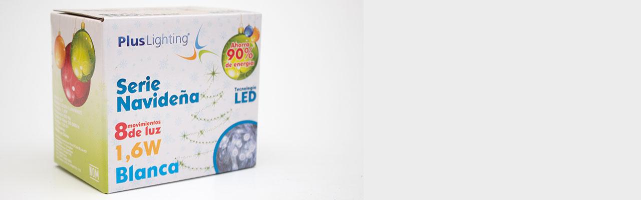 Serie Navideña 100 Leds Blanco Frio