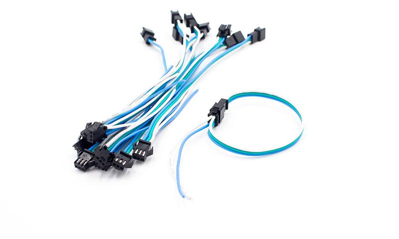 Conector para led pixel alimentación voltaje