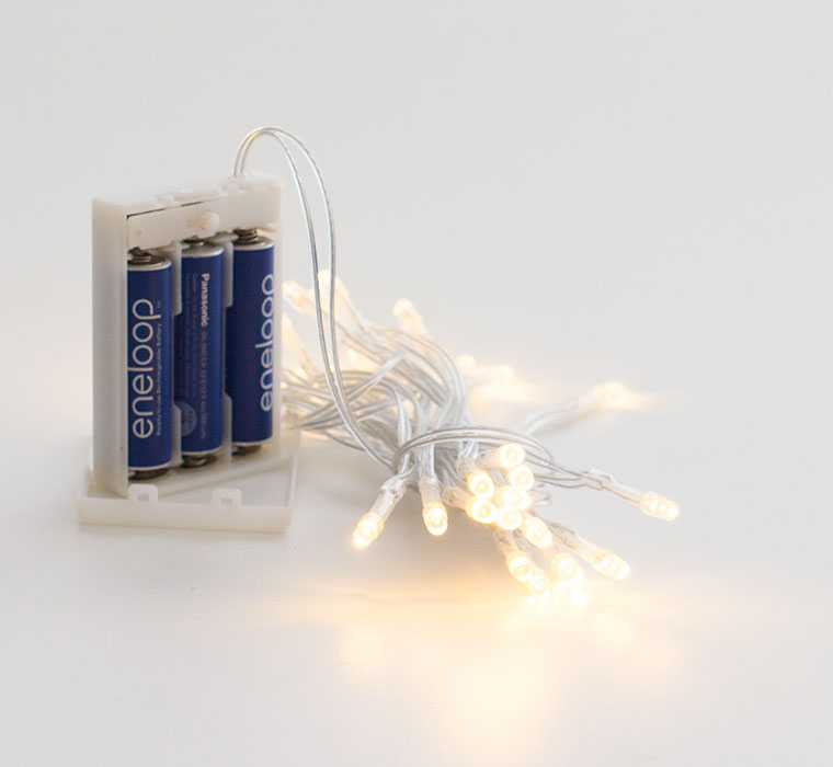 364ebe138e4df Luces led de pilas para todo tipo de decoración que requieran luces de  navidad alimentadas con pilas